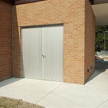 aluminum-plank-door-flush-pair-storage-room